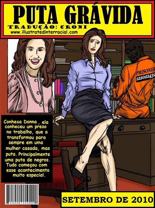 Puta Grávida- illustrated interracial – pornocomics